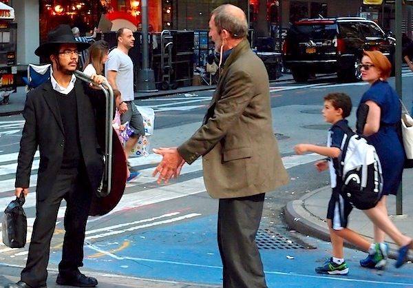 Donald Fleming and Passer-by Times Square