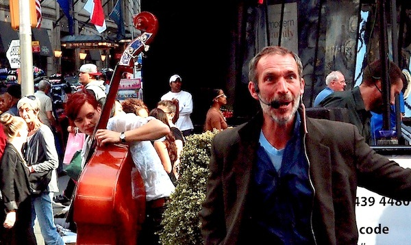 Donald Fleming and Cellist - Times Square