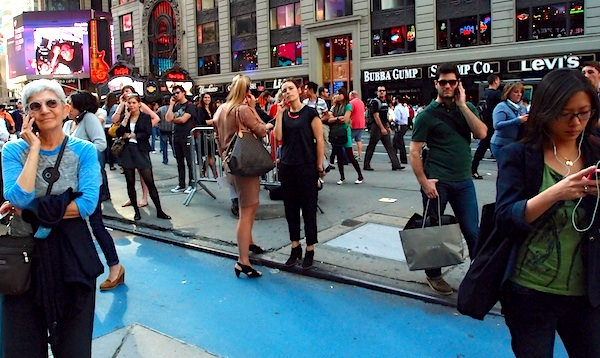 Pleinvrees Agoraphobia audience -Times Square